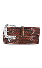 Justin Men's Natural Brown Trophy Bull Tooled Leather Western Belt