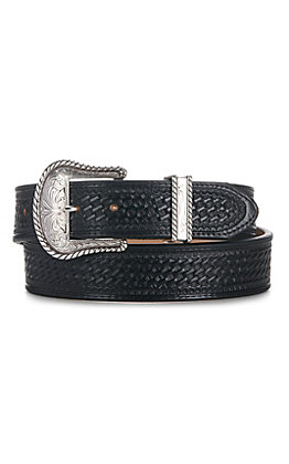Justin Men's Black Bronco Western Belt C12263