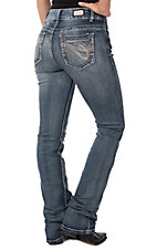 Wired Heart Women's Stitch Open Pocket Boot Cut Jeans