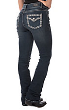 Wired Heart Women's Embellished Flap Boot Jeans