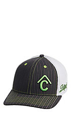 Cavender's Black and Green Branded Snapback Cap