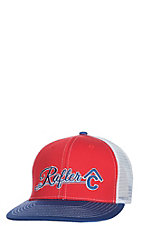 Rafter C Blue, Red and White Logo Snap Back Cap