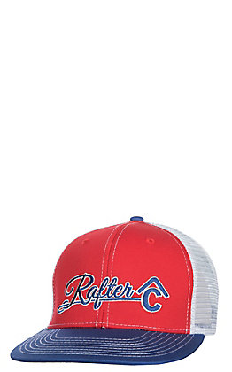 Rafter C Blue Red and White Logo Snap Back Cap