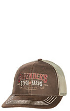 Cavender's Oilskin and Tan Stockyards Mesh Snap Back Cap