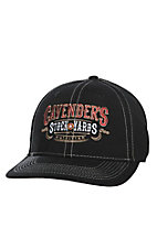 Cavender's Black Stockyards Snap Back Cap
