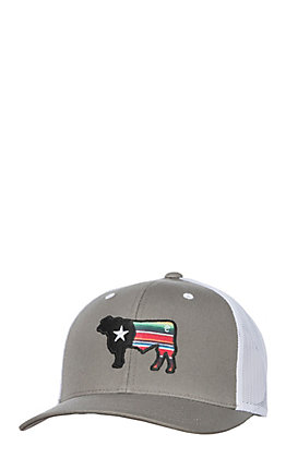 Rafter C Grey Serape Cow Snap Back Cap