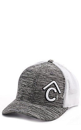 Rafter C Heather Grey Snap Back Cap