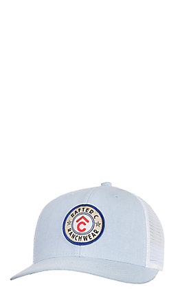 Rafter C Men's Light Blue Circle Patch Cap