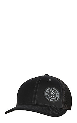 Rafter C Men's Black Off Set Circle Patch Cap