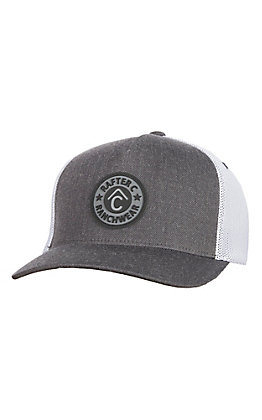Rafter C Men's Charcoal Offset Patch Cap