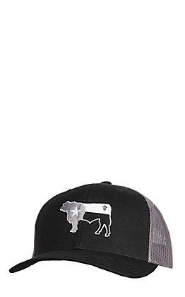 Rafter C Men's Black Rafter C Grey Bull Mesh Cap