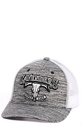 Cavender's Grey & White Skull Logo Mesh Back Cap