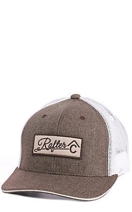 Rafter C Grey Tweed Logo Patch Cap