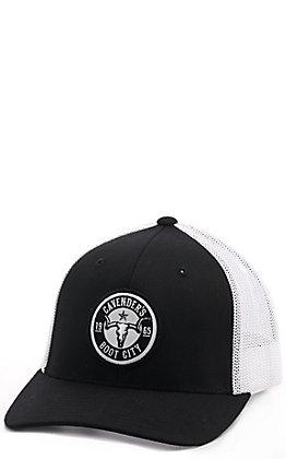 Cavender's Black Round Patch Snapback Cap