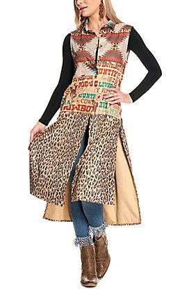 Fashion Express Women's Multi-Pattern Long Line Vest