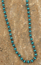 Blazin Roxx Turquoise and Silver Beaded Long Necklace