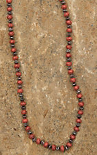 Blazin Roxx Red and Silver Beaded Long Necklace