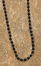 Blazin Roxx Black and Silver Beaded Long Necklace