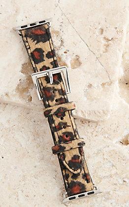 Blazin Roxx Leopard Faux Hair 42/44MM Watch Band