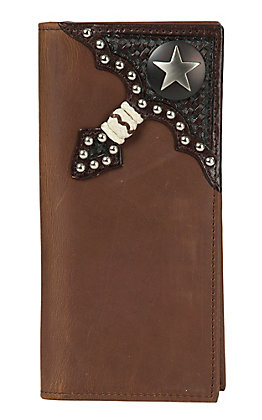 Ranger Belt Company Brown with Iron Star Concho Wallet