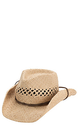 Dorfman Pacific Crushable Raffia Children's Hat