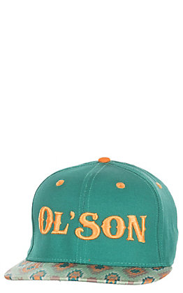 81337269a55ca Rodeo Time Dale Brisby Teal and Aztec Ol  Son Snap Back Cap