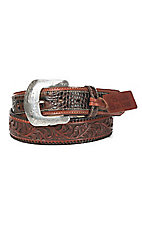 Tony Lama San Saba Men's Tooled with Caiman Western Belt