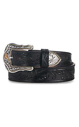 Tony Lama Men's Black Westerly Ride Belt