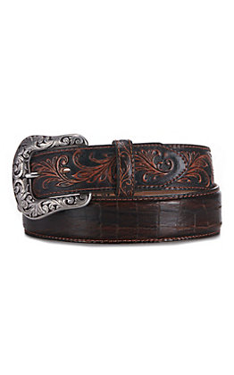 Tony Lama Men's Pinto Classic Tooled Western Belt