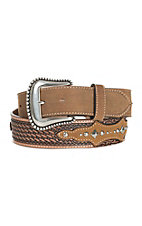 Tony Lama Men's Tan Classic Design Western Belt
