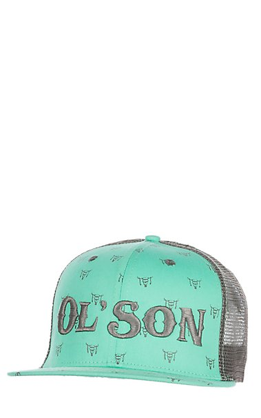 8bbd327510b Rodeo Time Dale Brisby Turquoise Ol  Son Snap Back Cap