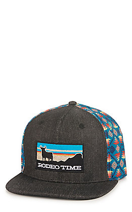 new style 1a813 f91eb Rodeo Time Dale Brisby Heather Grey Rodeo Time Patch Snap Back Cap