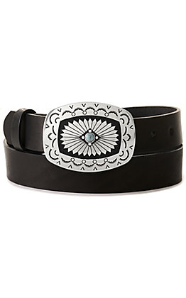 Tony Lama Women's Santa Rosa Black Leather Belt