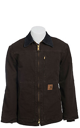 Carhartt Dark Brown Sherpa Lined Sandstone Ridge Coat