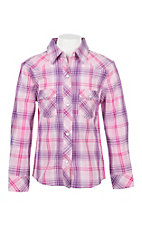 Panhandle Women's Pink Plaid L/S Western Snap Shirt