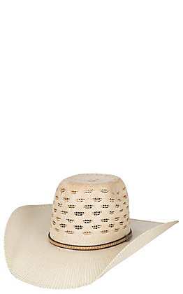 Cavender's Ranch Collection Two Tone Bangora Vented Straw Cowboy Hat