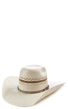 Cavender's Collection Tan/Ivory Bangora Punchy Hat
