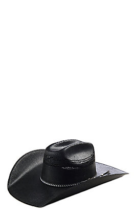 Cavender's Ranch Collection Black Bangora Straw Cowboy Hat