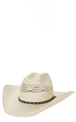 Cavender's Ranch Collection Ivory Bangora Vented Straw Cowboy Hat