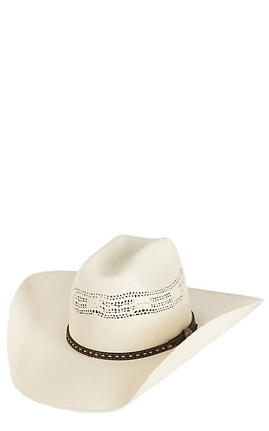 f7efbd056b2 Cavender s Ranch Collection Ivory Bangora Vented Straw Cowboy Hat ...