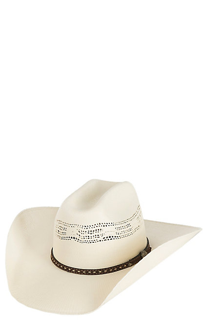 8ece9cc1b Cavender's Ranch Collection Ivory Bangora Vented Straw Cowboy Hat
