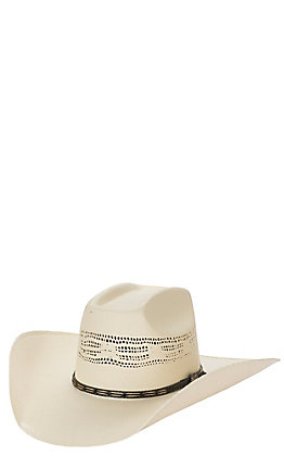 be02d712ef9ad3 Cavender's Ranch Collection Ivory Bangora Vented Straw Cowboy Hat