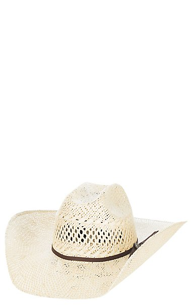 Cavender s Ranch Collection Twisted Weave Vented Straw Hat  e25a7150b0d