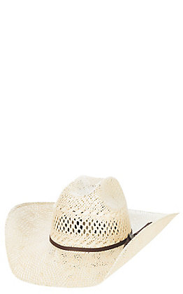 Cavender's Ranch Collection Twisted Weave Vented Straw Hat