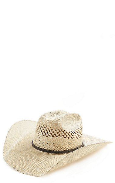 7a0b8e463c444 Cavenders Collection Twisted Weave Maverick Cattleman Hat Cavenders