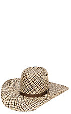 Cavender's Ranch Collection 3 Tone Twister Weave Vented Straw Hat