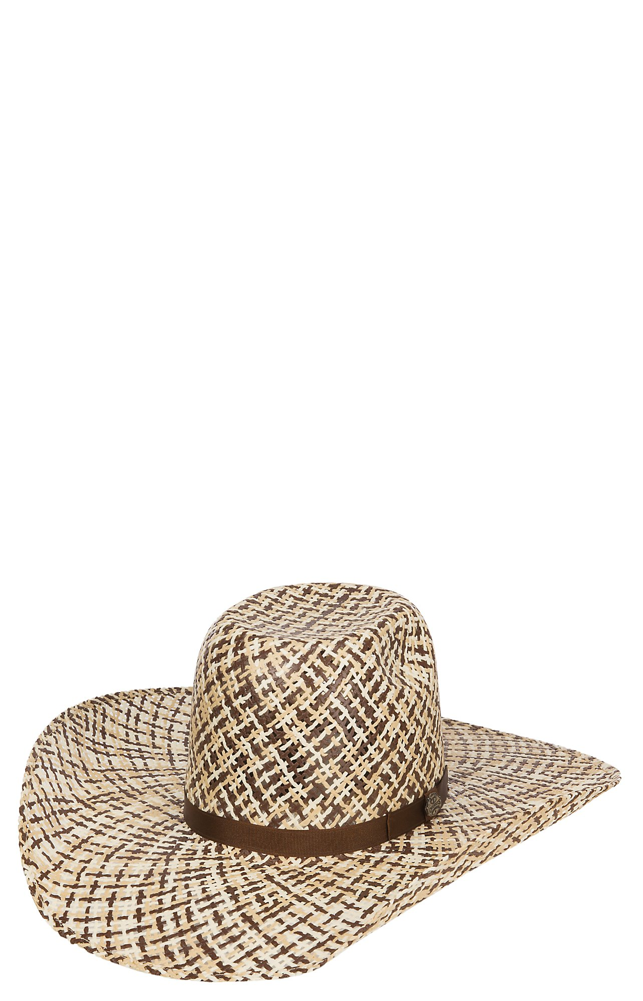 Cavender s Ranch Collection 3 Tone Twister Weave Vented Straw Hat ... 735b1e5ec913