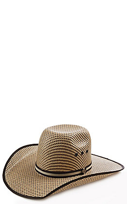 Cavender's Ranch Collection Three Tone Woven Punchy Cowboy Hat