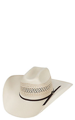 Cavender's Cowboy Collection 10X Two Tone Vented Straw Cowboy Hat