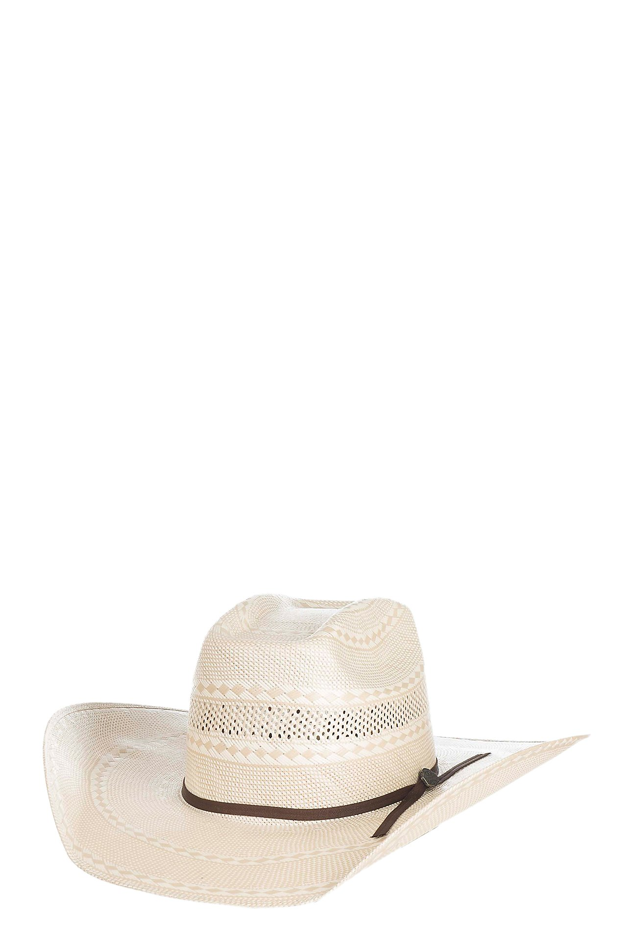 c527845f90f Cavender s Cowboy Collection 10X Two Tone Vented Cown Straw Cowboy Hat